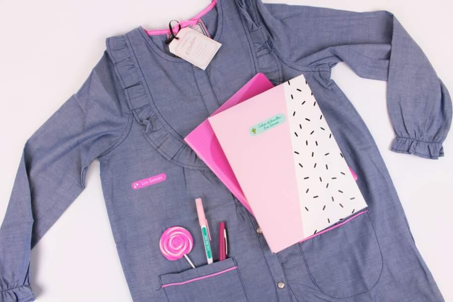 Etiquettes pour livres cahiers et vêtements