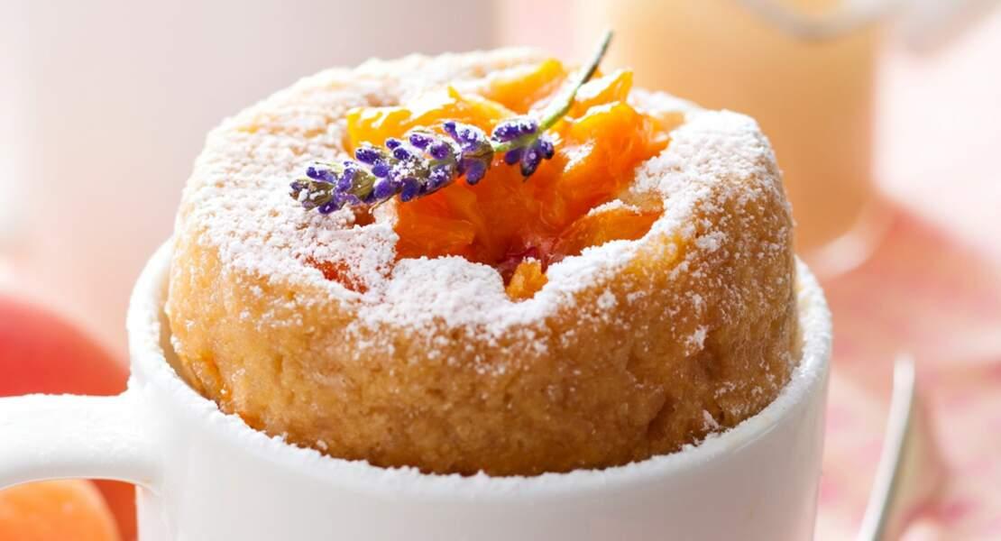 Mugcakes aux abricots et lavande