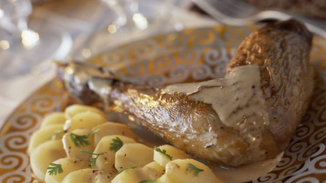 Mijoté de pintade au foie gras