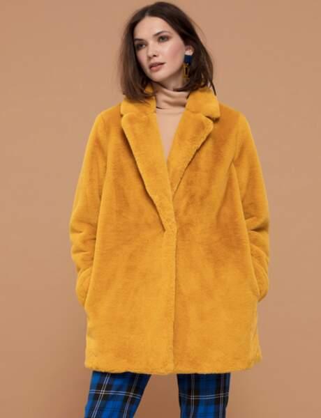 Manteau tendance: moutarde