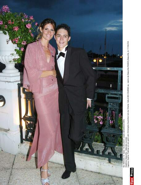 Sophie Thalmann et le jockey Christophe Soumillon...