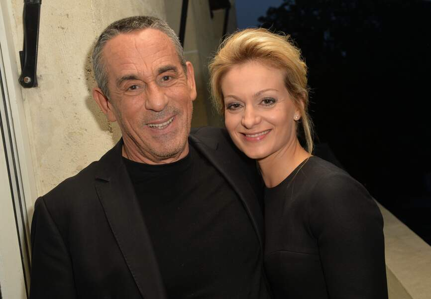 Thierry Ardisson et Audrey Crespo-Mara au restaurant Nolita à Paris (2016)
