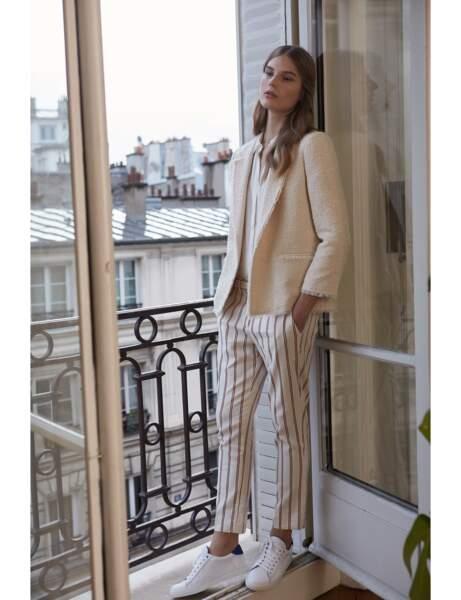 Pantalon tendance : pantalon rayé