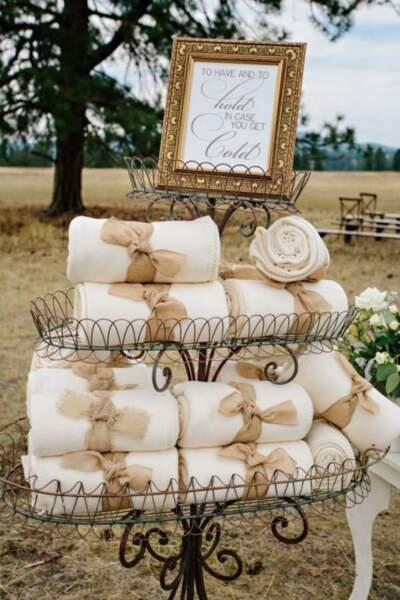 Un plaid pour un mariage d'hiver