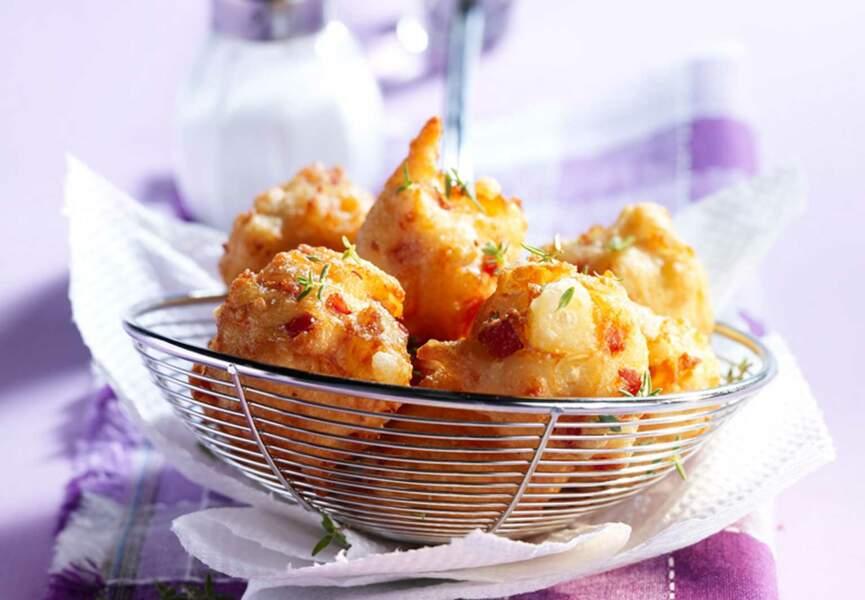 Beignets jambon et amandes