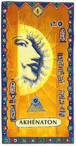 Lame 4 du tarot égyptien : Akhenaton