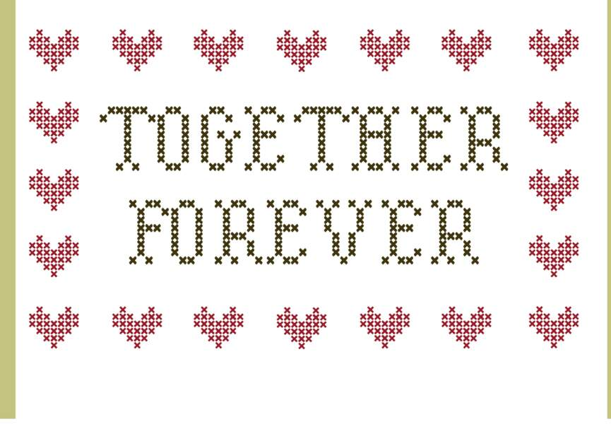 Broderie Together forever