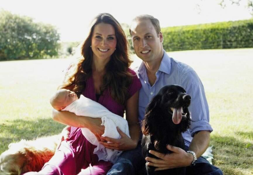 Kate Middleton, William et George, immortalisés par le père de Kate, Michael (août 2013)