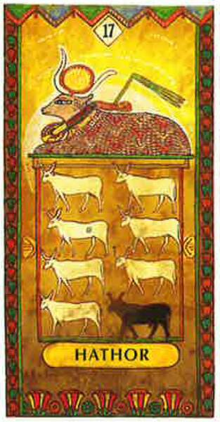Lame 17 du tarot égyptien : Hathor