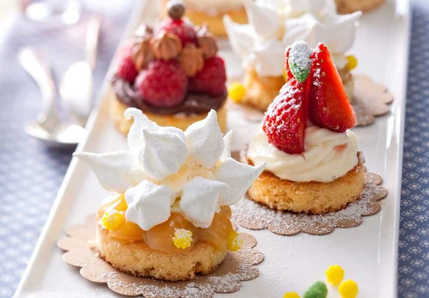 Mini-gâteaux sur palets bretons