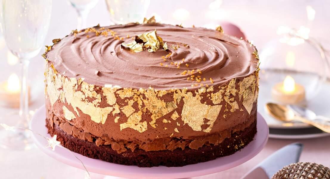 Gâteau au chocolat 3 saveurs