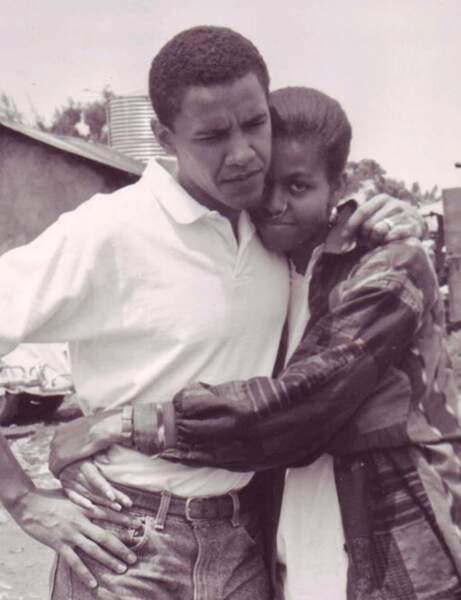 Barack Obama et celle qui à l'époque s'appelait Michelle Robinson...