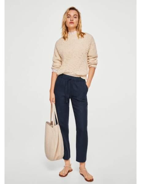 Pantalon tendance : pantalon en lin