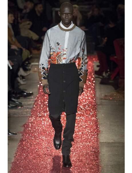 L'uniforme Givenchy à l'automne-hiver 2015-2016 : la jupe pour homme