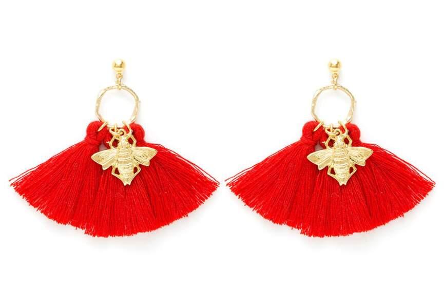 Accessoire tenue de mariage & cérémonie : boucles d'oreilles flashy
