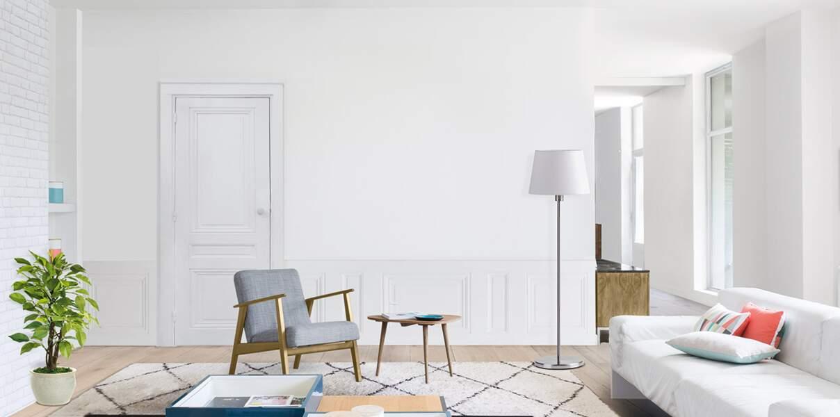 Salon entièrement blanc