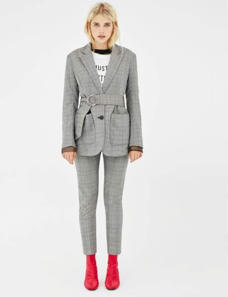 Pantalon de tailleur : écossais