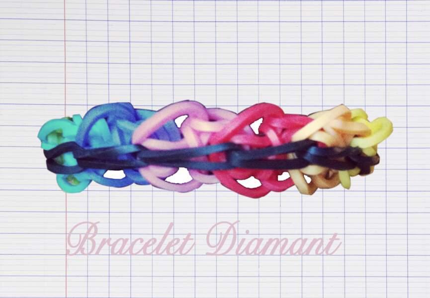 Le bracelet Diamant arc-en-ciel