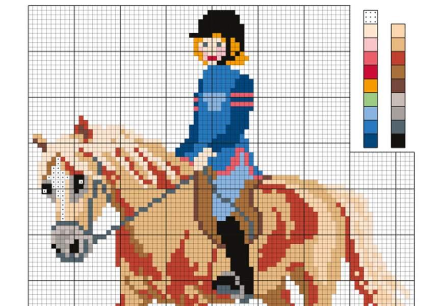 Une grille pour les fans de chevaux