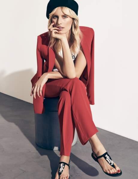 Pantalon tendance : pantalon rouge
