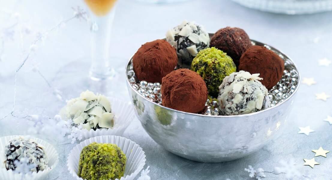 Truffes au chocolat en habit divers