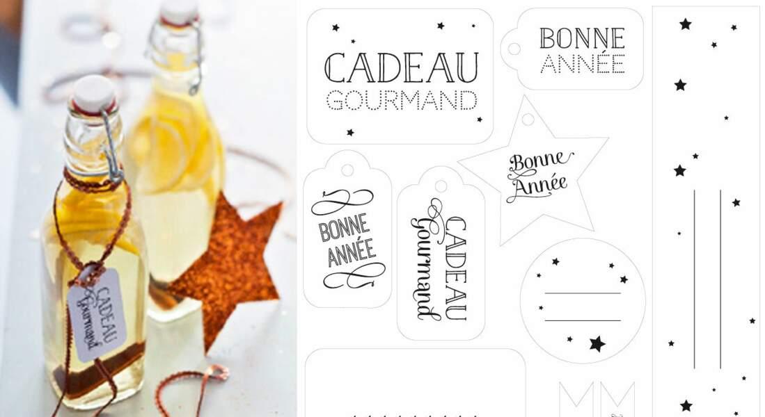 Des étiquettes de Noël pour personnaliser vos cadeaux
