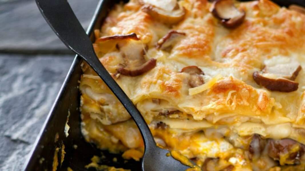 Lasagnes aux cèpes et potimarron