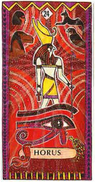 Lame 24 du tarot égyptien : Horus
