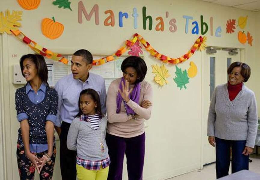 La famille Obama, réunie en toutes circonstances