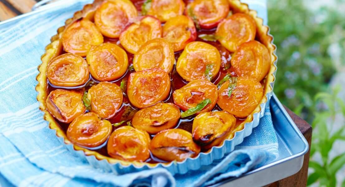 Tarte à l'abricot et verveine