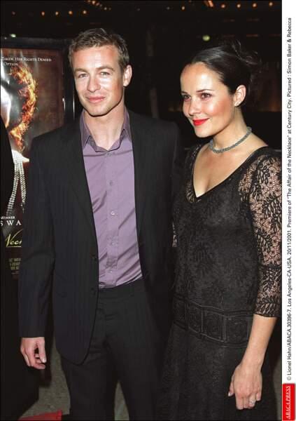 Simon Baker et Rebecca Rigg...