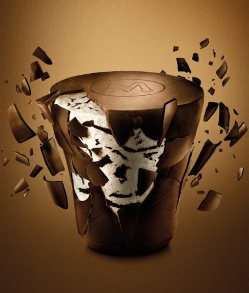 Le pot enrobé de chocolat