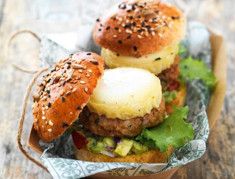 Mini-burgers de veau épicés au chabichou