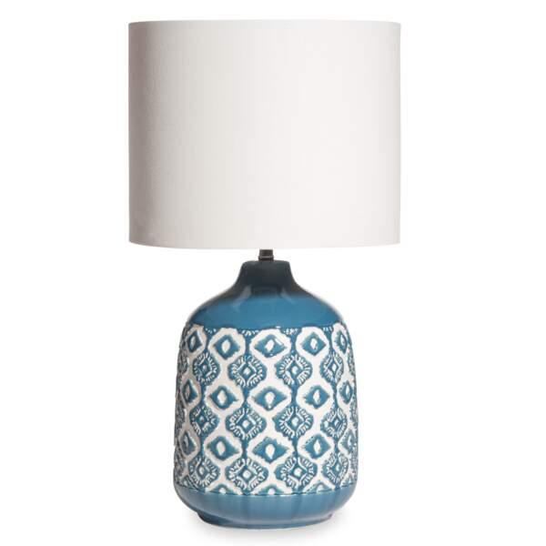 Lampe bleue en céramique Maisons du Monde