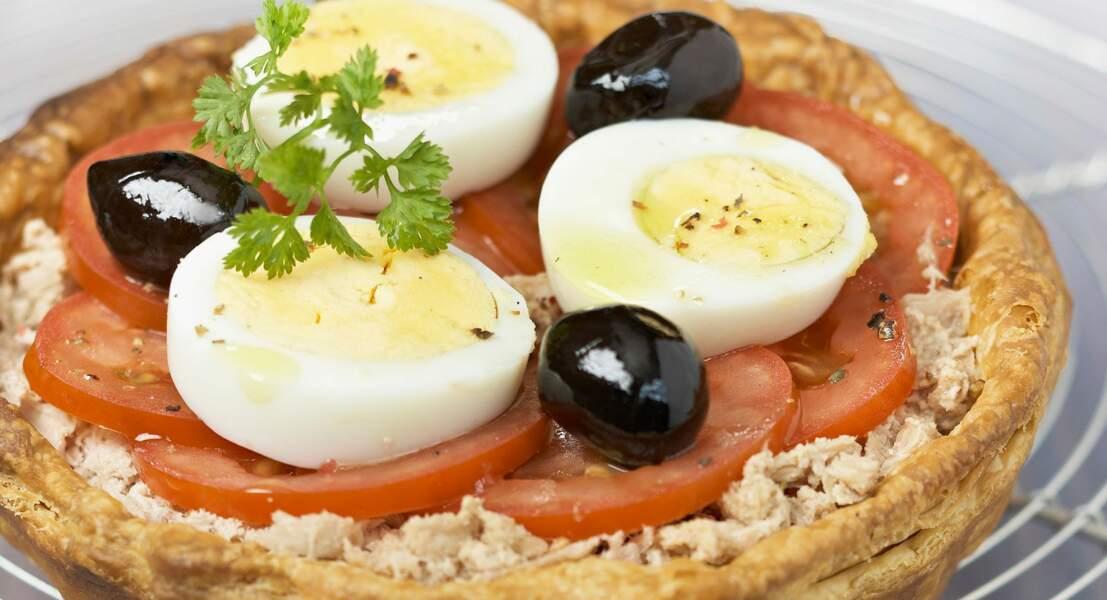 Quiche thon olive