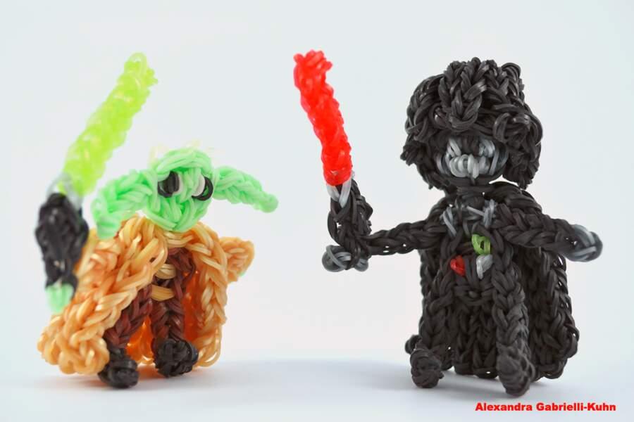Dark Vador & Maitre Yoda par Alexandra