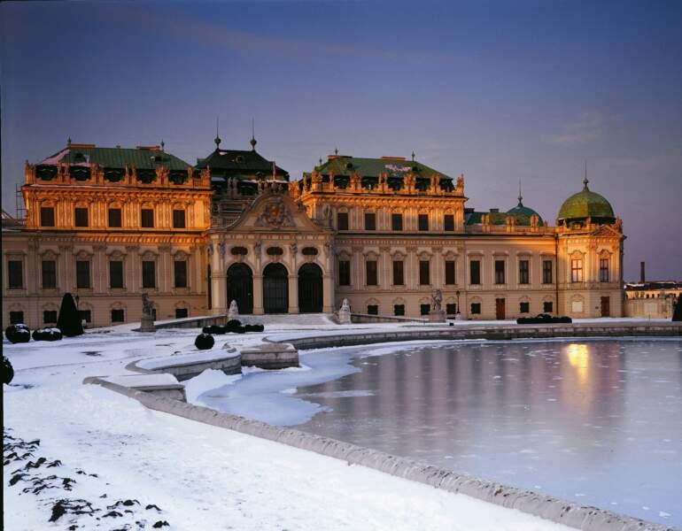 Palais du Belvédère sous la neige