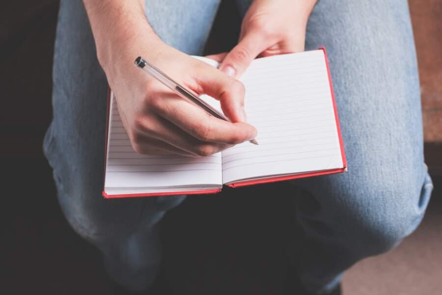 Écrire la liste de ses envies