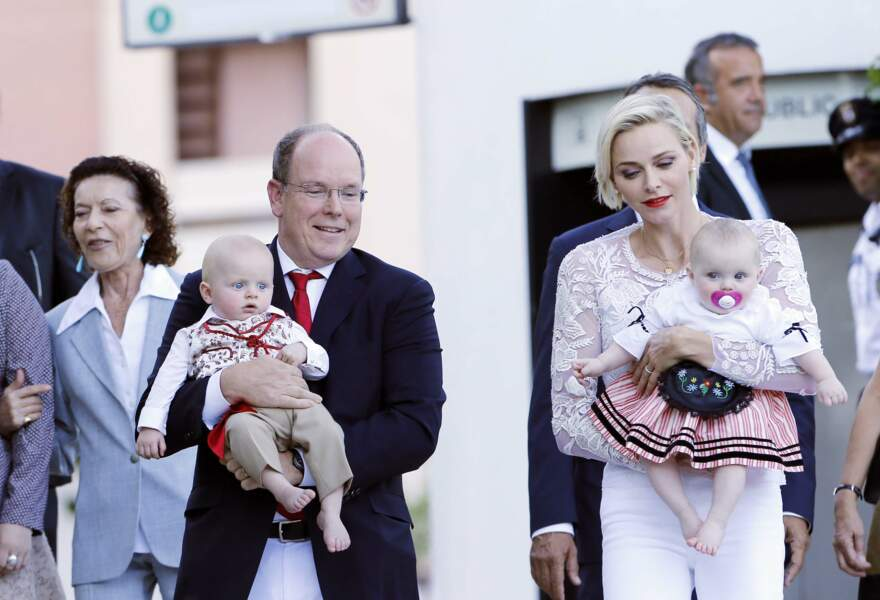 Charlène et le prince Albert de Monaco