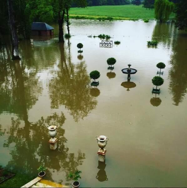 Le parc de Château Gaillard, à Amboise, est devenu un véritable lac