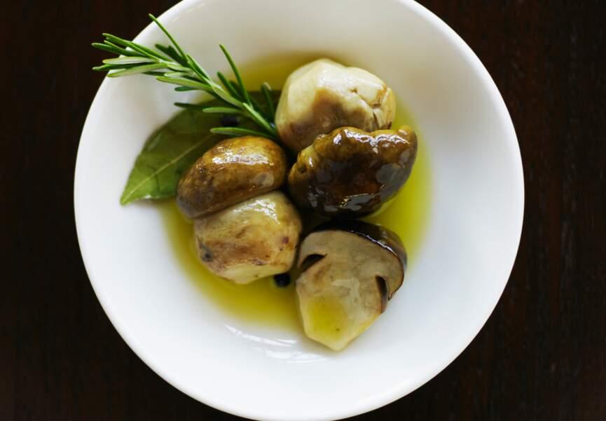 Champignons à l'huile