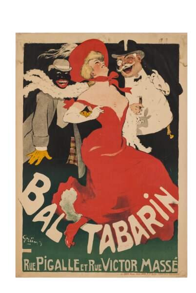 Affiche publicitaire pour le Bal Tabarin, 1904