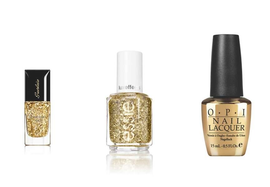 Des feuilles d'or pour des ongles 24 carats