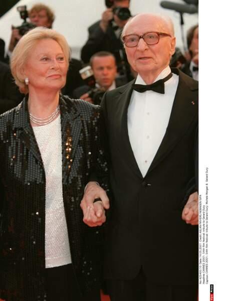 L'une de ses dernières apparitions publiques, au festival de Cannes en 2001, au bras de Gérard Oury