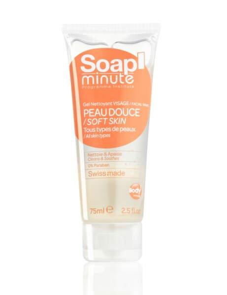 Nettoyant douceur : le gel visage Soap' Minute