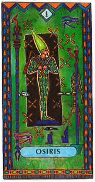 Lame 1 du tarot égyptien : Osiris