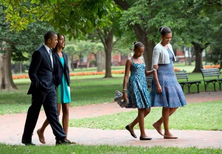 "Barack Obama dit que ses enfants ""l'inspirent, et remplissent son coeur"""
