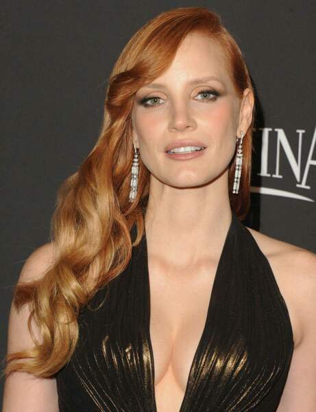 Jessica Chastain : son side-hair glamour