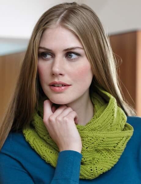 Modèle de tricot gratuit : le snood ajouré