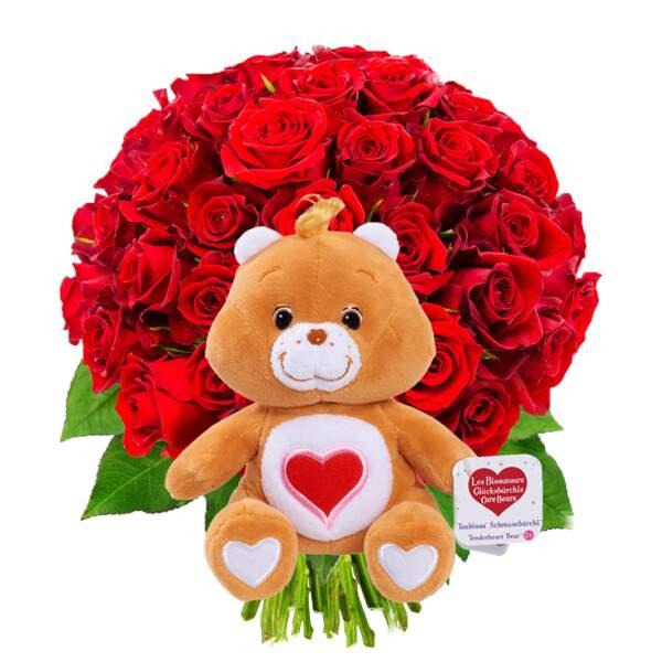 Roses passion et tendre bisounours